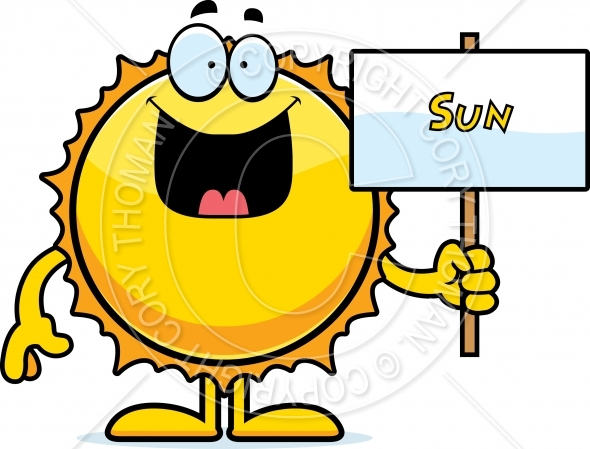 590x449 Cartoon Sun Sign Vector And Royalty Free License