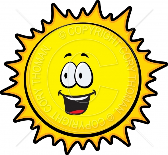 590x545 Cartoon Sun Smiling Vector And Royalty Free License