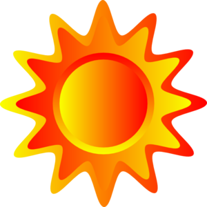 300x300 Red Orange And Yellow Sun Clip Art
