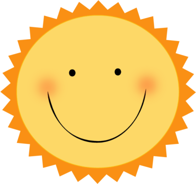 400x376 Smiling Hot Sun Clip Art