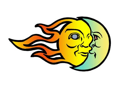 450x298 Sun And Moon Clipart
