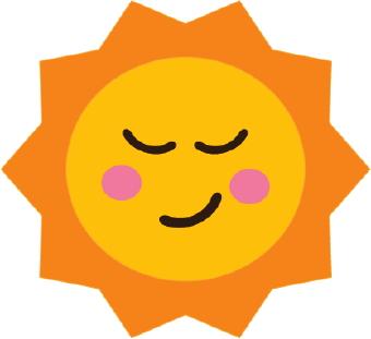 340x311 Sun clip art