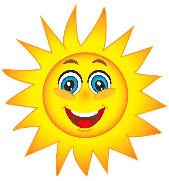 561x600 Happy sun clip art