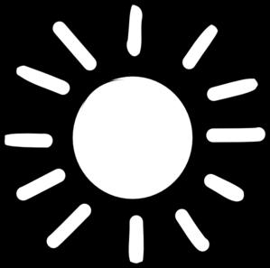 299x297 Sun Outline Clip Art
