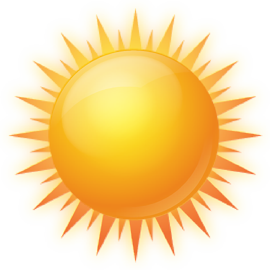 1080x1080 Sun Clipart Clear Background