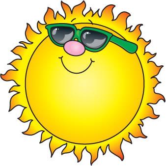 338x338 Sunshine sun clipart image clip art a bright sun on a clipartcow