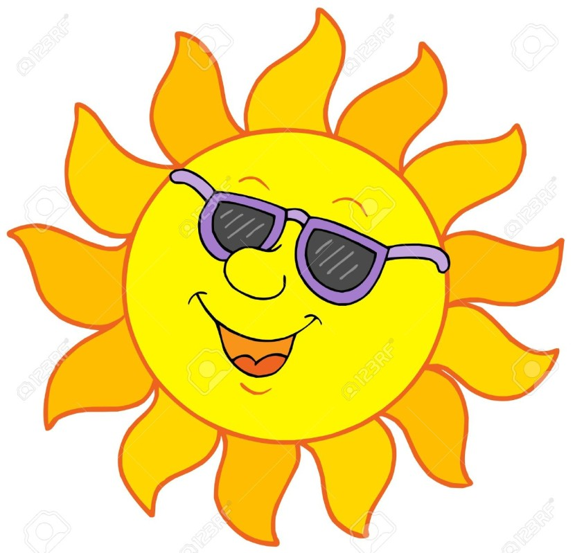 830x799 sun with sunglasses clipart