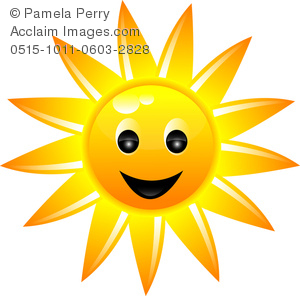 300x296 Art Image Of A Smiling Sun Icon