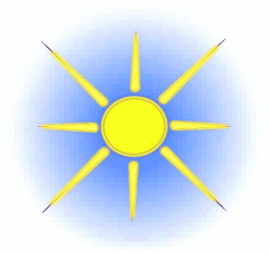 548x515 Image of Clip Art Sun Rays