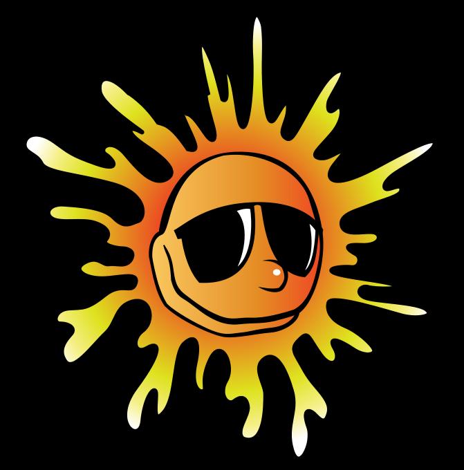 671x680 Beach Sun Clipart