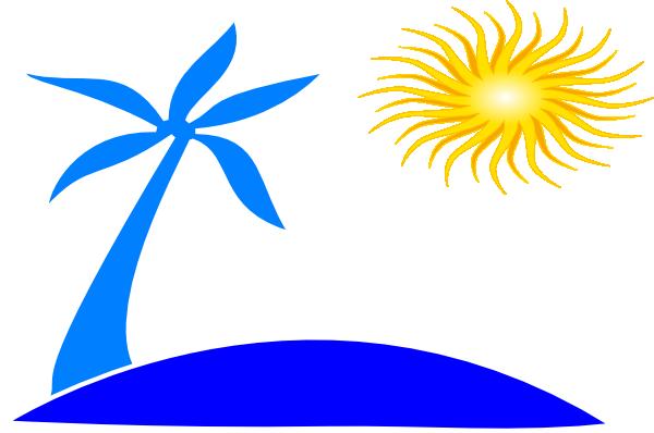 600x398 Beach Sun Clipart