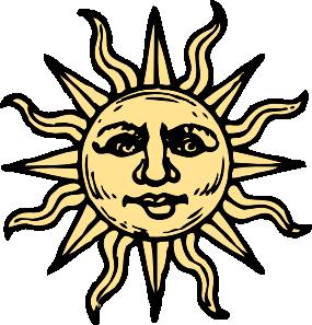 285x297 Sun Woodcut Clip Art