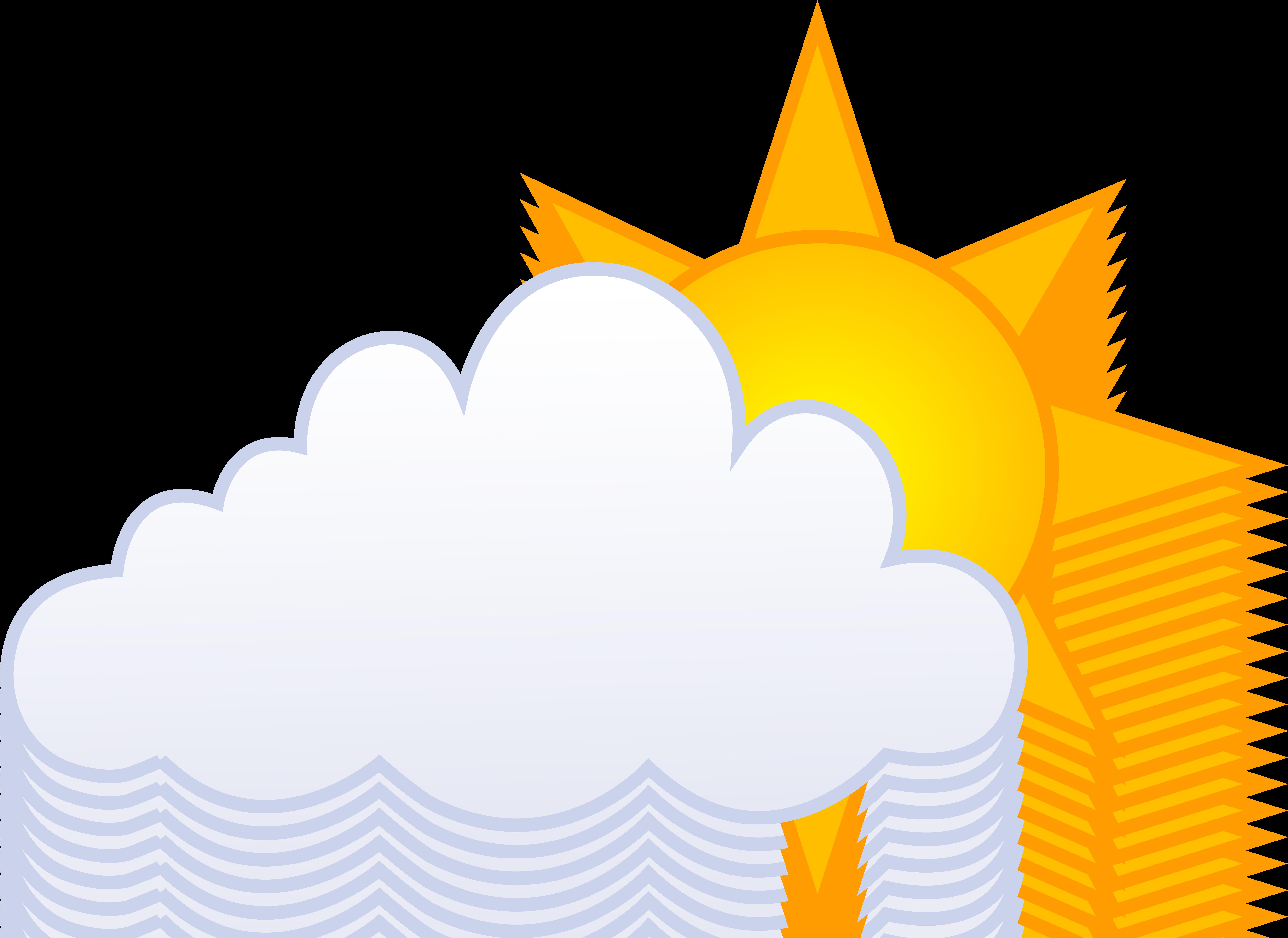 7951x5793 Sun clipart cloudy