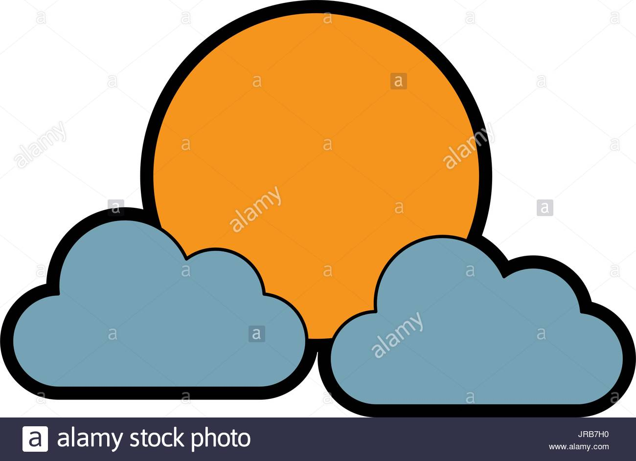1300x943 Sun Clouds Weather Forecast Climate Sky Stock Vector Art