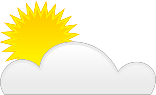 500x305 Vector Clip Art Of Weather Forecast Color Symbol For Partly Cloudy