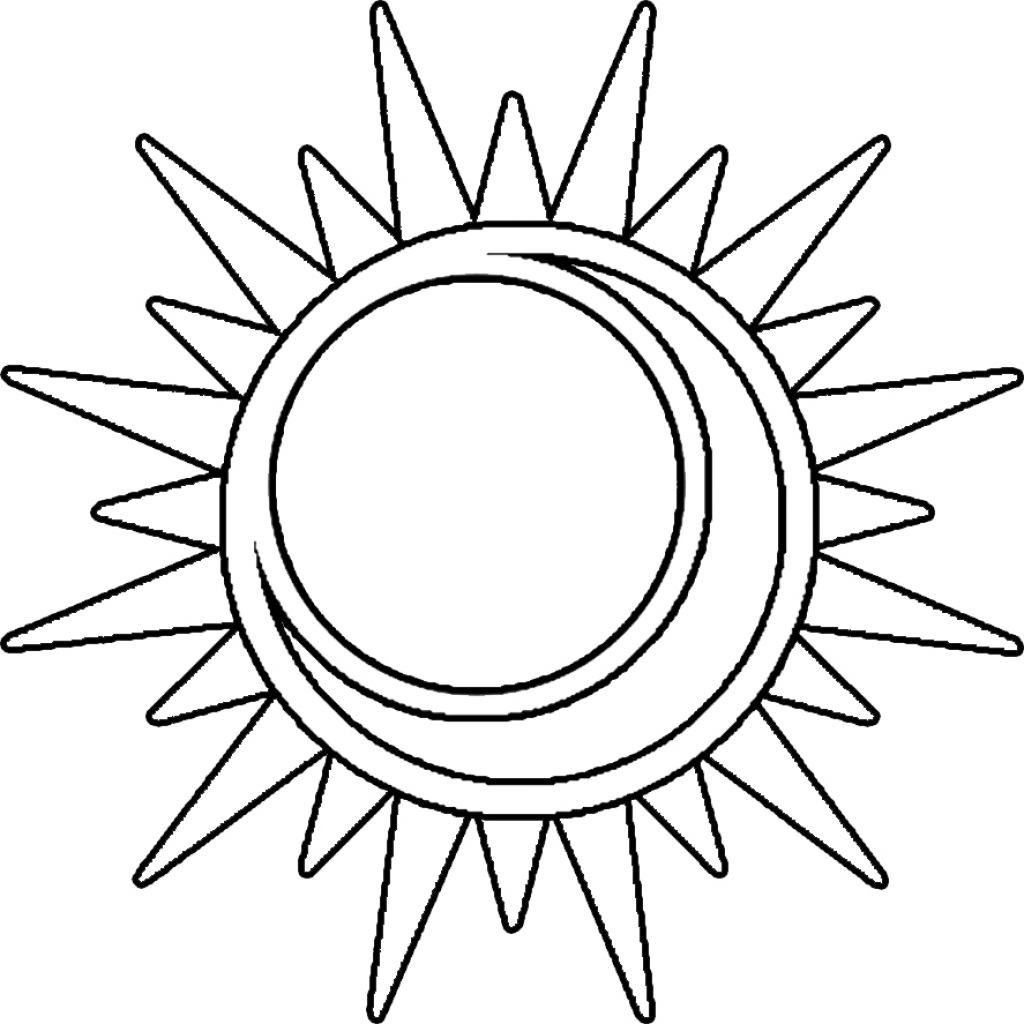 1024x1024 sun and moon drawing cool sun moon drawings clipart best - Sun And Moon Coloring Pages