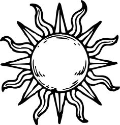 236x245 Sun Moon Tribal Tattoo Design Tattoos Tribal