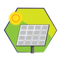 200x200 Solar Panel Solar Energy Sun Sunny Renewable Free Vector Graphics
