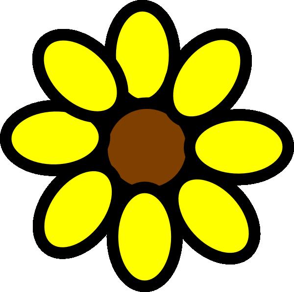 600x595 Sunflower Clip Art