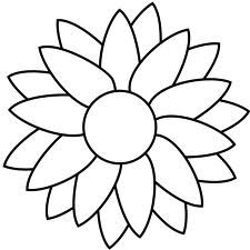 225x225 Sunflower Clipart Black And White