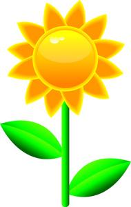 190x300 Sunflower Clipart Image