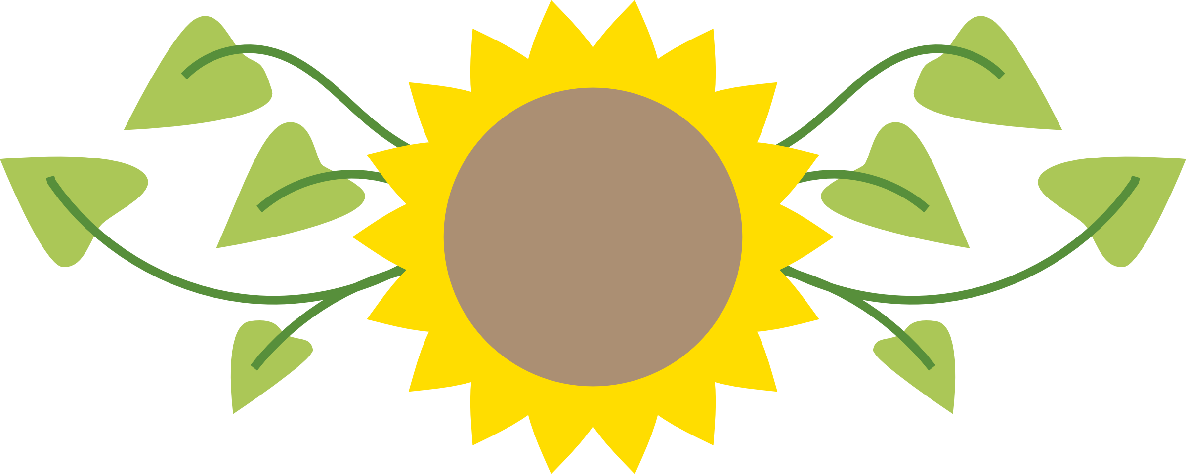 2400x960 Sunflower Border Clipart Free Images 2