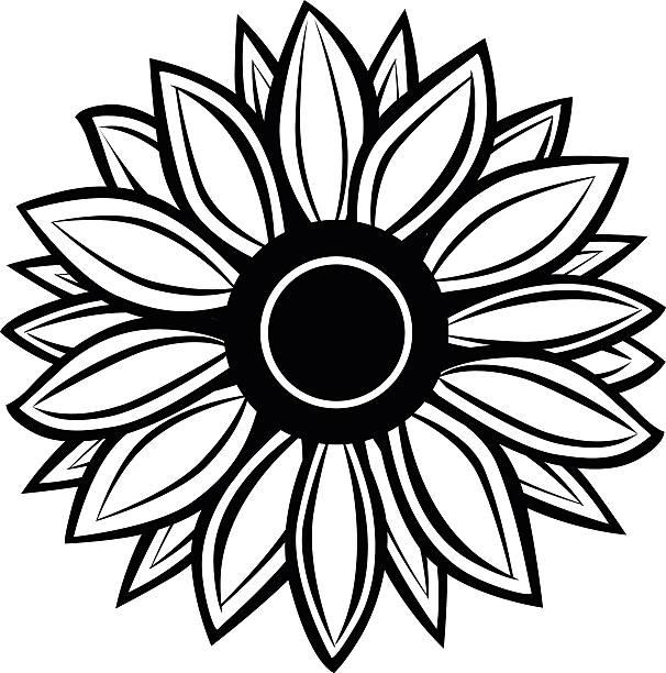 606x612 Sunflower Clipart Silhouette