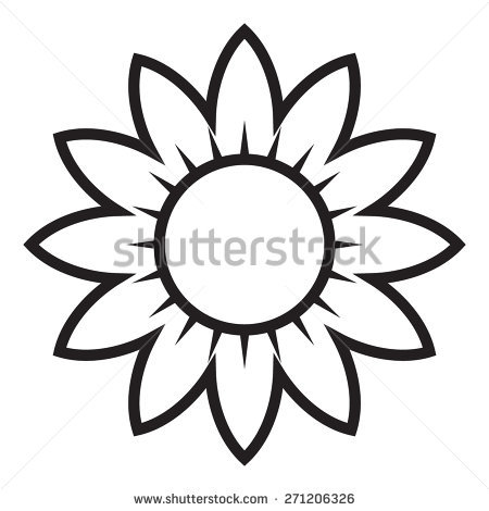 450x470 Sunflower Clipart Sunflower Outline