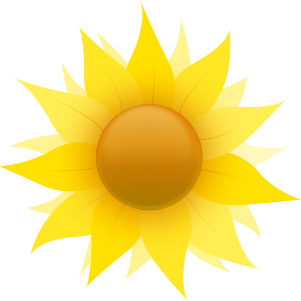 600x601 Free Sunflower Clipart Flower Clip Art Images