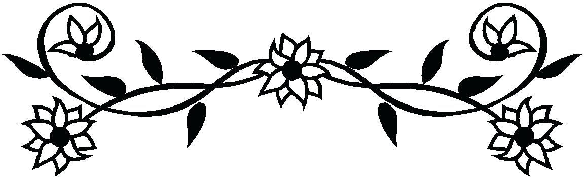 1152x349 Sunflower Clipart Of A Black And White Sunflower Royalty Free