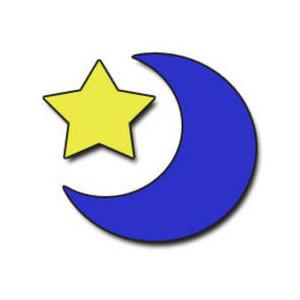 300x300 Clipart Free Moon Star