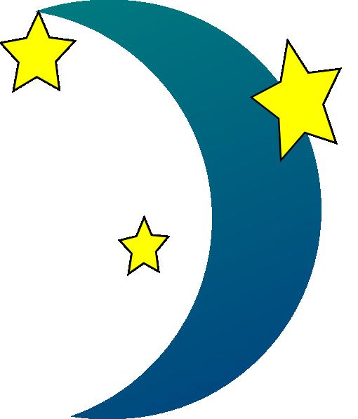 510x597 Crescent Moon N Stars Clip Art