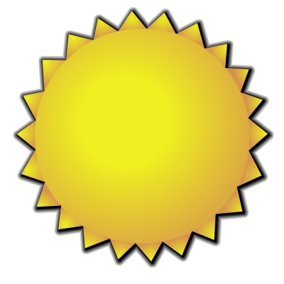 400x400 Golden Sun Clipart