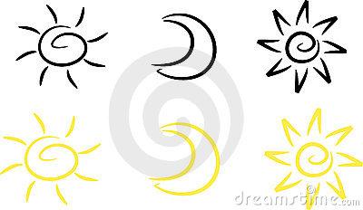 400x232 Sun And Moon Clipart