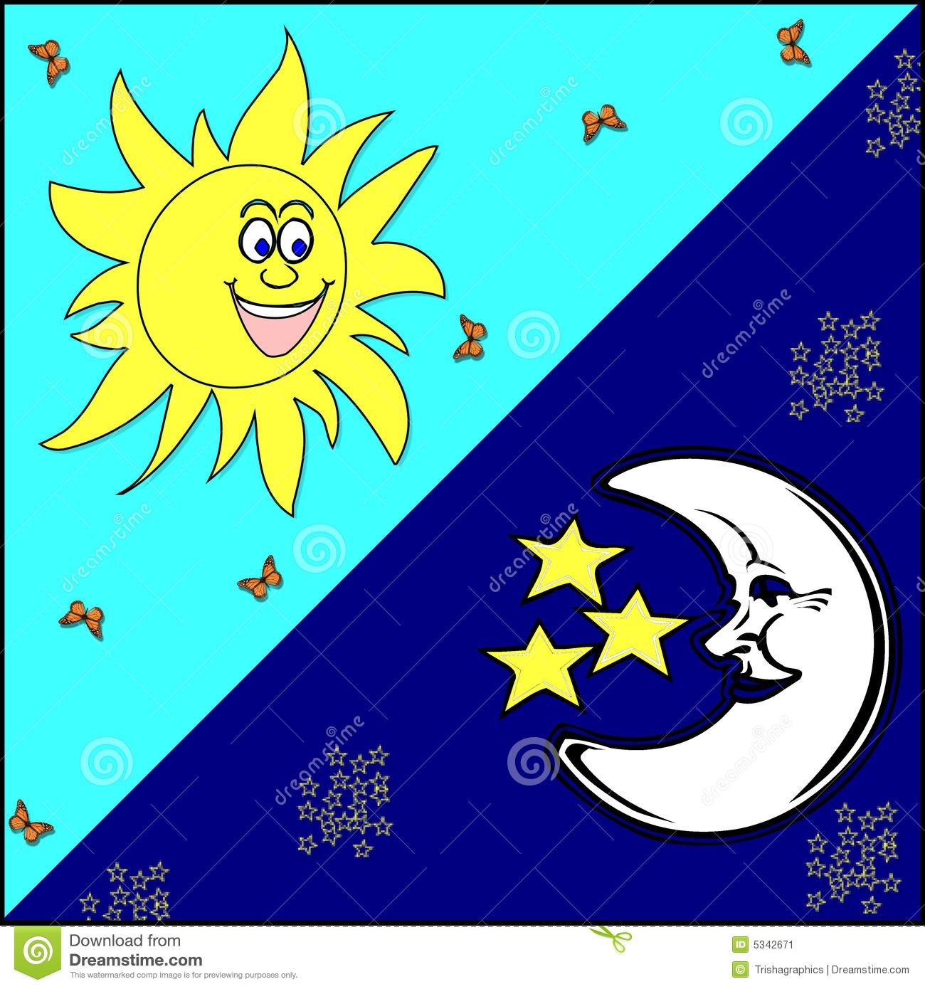 1300x1390 Clipart Sun Moon Stars
