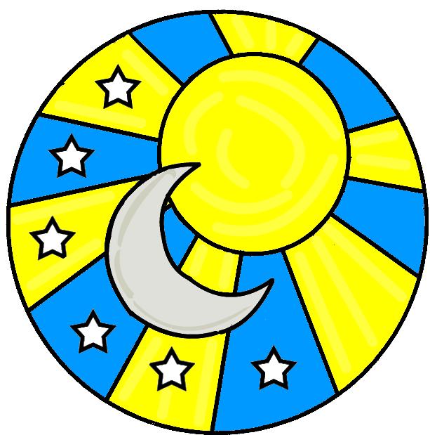 613x619 Sun Moon Stars Clipart