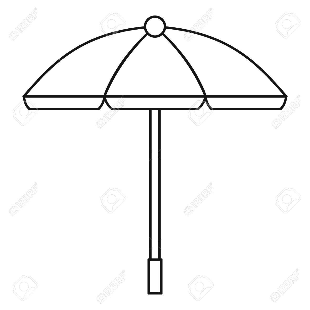 1300x1300 Sun Umbrella Icon. Outline Illustration Of Sun Umbrella Vector
