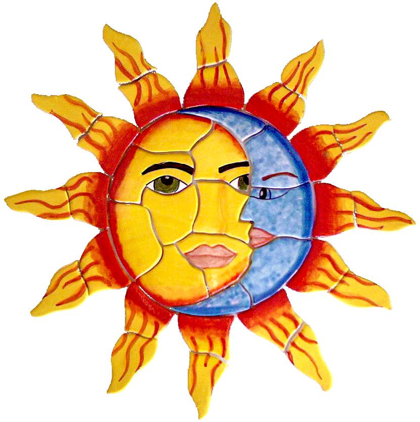 830x834 Mexican Tile Lomeli Sun And Moon