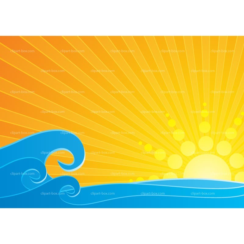 800x800 Sea Clipart Sun Sea