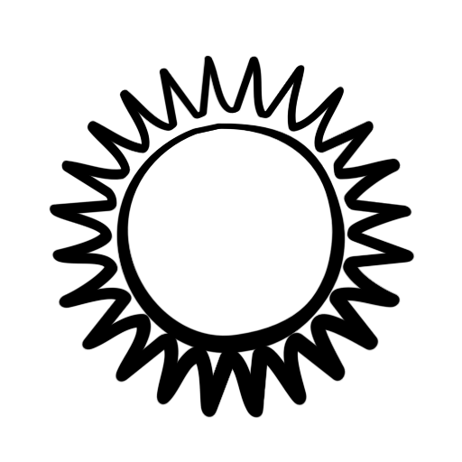 512x512 Sketch Clipart Sun
