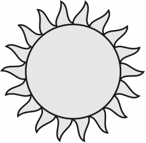 300x295 Sun And Moon Clipart Black And White