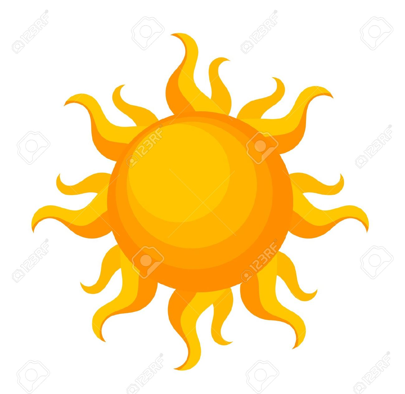 1300x1263 Burning Sun Clipart
