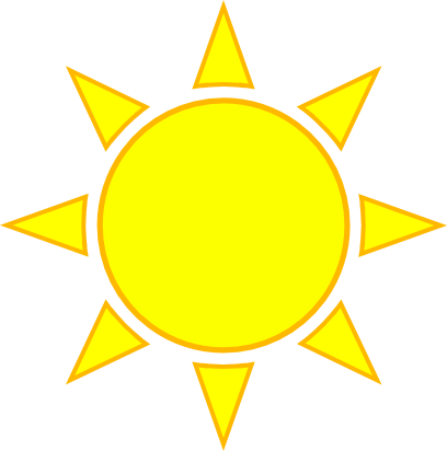 Sun rays cartoon. Clipart png free download