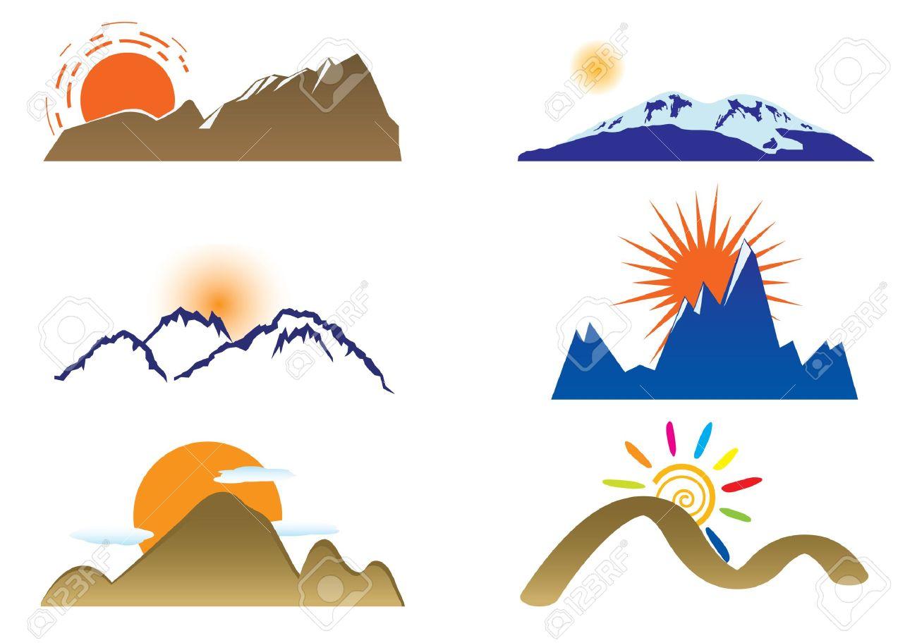 1300x912 Mountain Clipart Mountain Sun