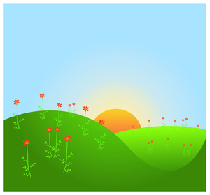 300x279 Red Flower Clipart Image