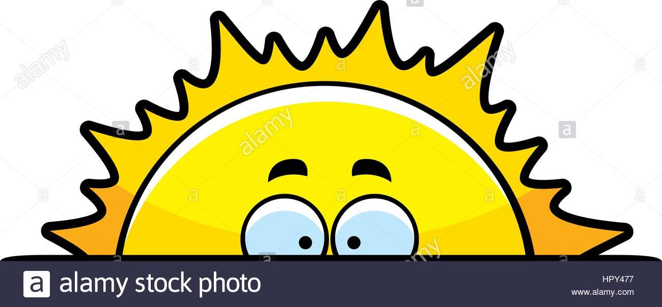 1300x604 A Cartoon Sun Rising Above The Horizon Stock Vector Art