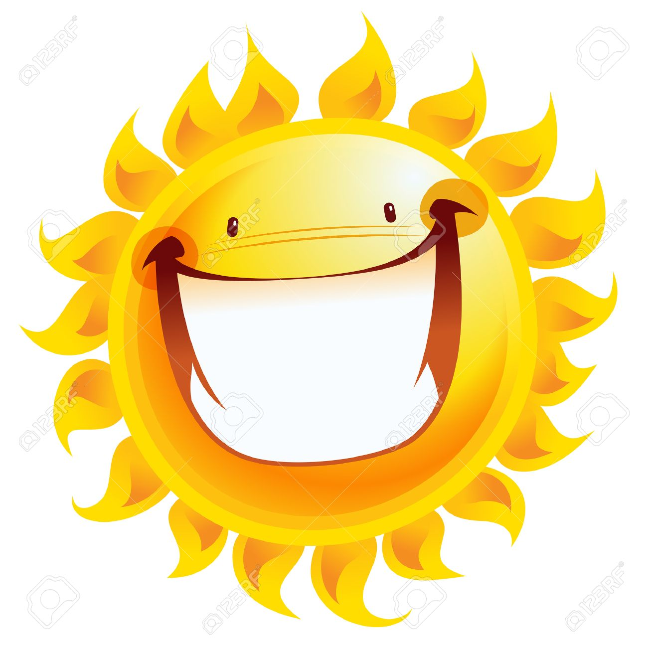 1300x1300 Shining Yellow Excited Smiling Sun Cartoon Character As Good