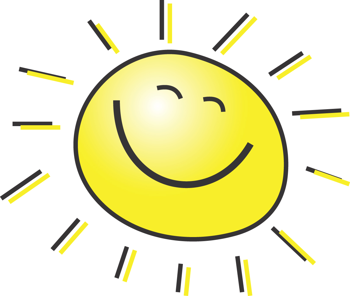 1200x1014 Summer Clipart Illustration Of A Happy Smiling Sun