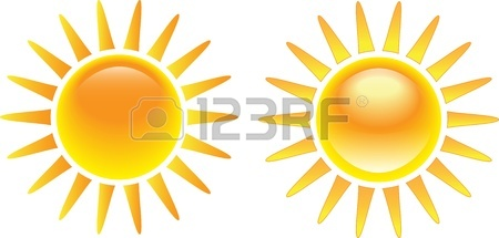 450x215 The Sun Isolated On White Background. Vector Illustration Royalty