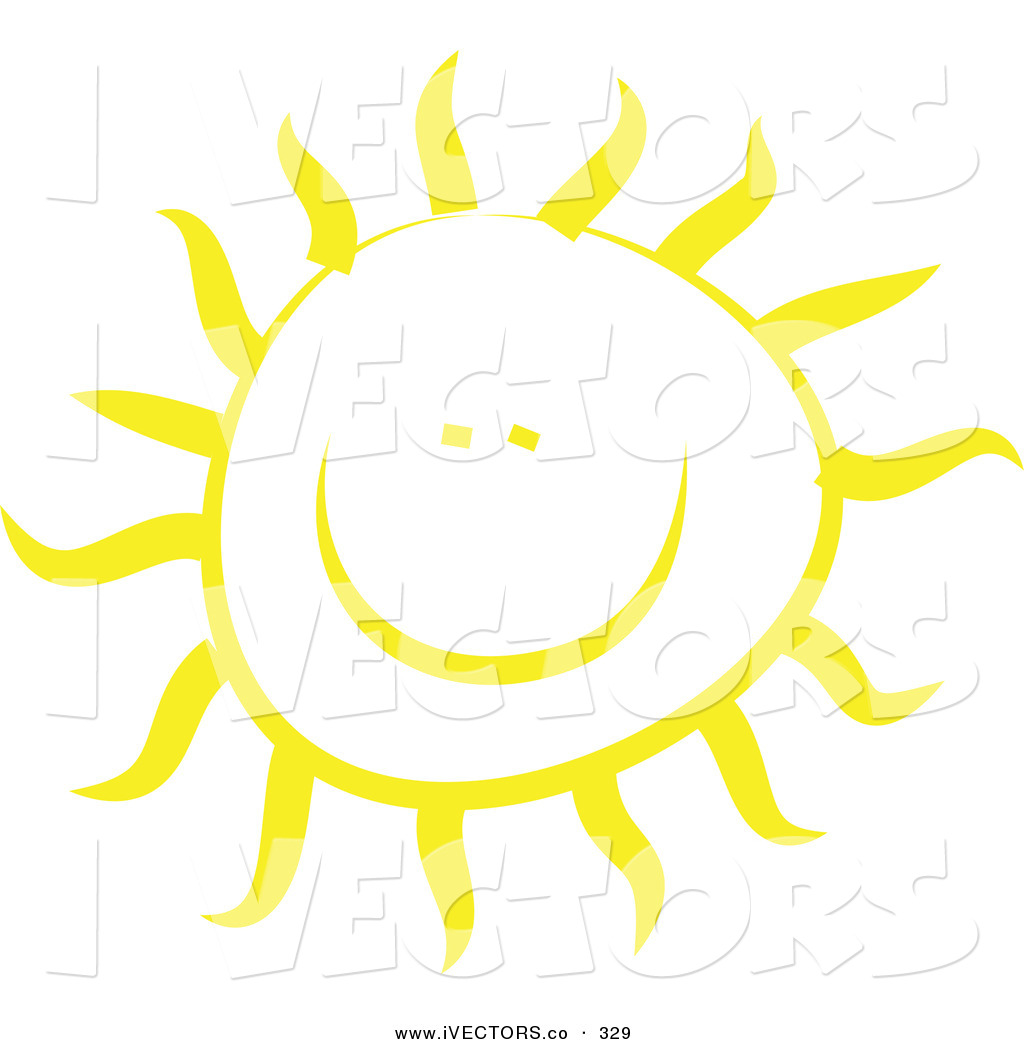 1024x1044 Vector Graphic Of A Cheery Yellow Sun Shining On White By Prawny